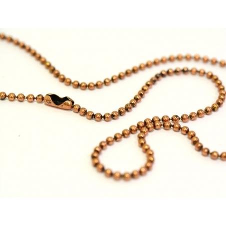 Acheter Collier chaine bille caramel - 60 cm - 1,79€ en ligne sur La Petite Epicerie - Loisirs créatifs