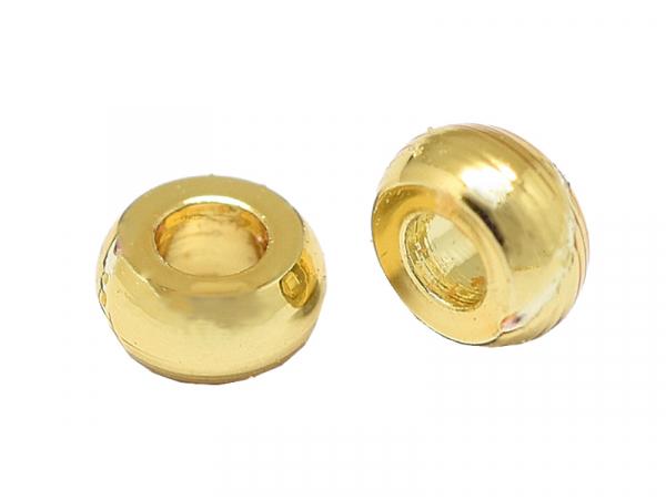 Acheter 10 perles intercalaires rondelles - doré à l'or fin 18k - 2,7 x 1,3 mm - 2,59€ en ligne sur La Petite Epicerie - Loi...