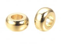 Acheter 10 perles intercalaires donut - doré à l'or fin 18k - 7 x 3,5 mm - 5,39€ en ligne sur La Petite Epicerie - Loisirs c...