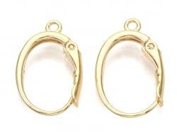 Acheter Boucles d'oreilles dormeuses avec boucle - doré à l'or fin 18k - 20,5 mm - 4,79€ en ligne sur La Petite Epicerie - L...
