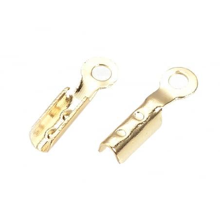Acheter 20 serre fil / embouts pour cordon - doré à l'or fin 18k - 7,5 x 2 x 1,5 mm - 3,09€ en ligne sur La Petite Epicerie ...