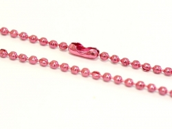 Pink ball chain necklace - 60 cm