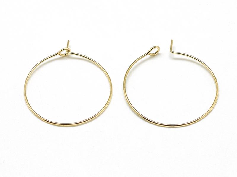 Acheter Paire de créoles 25 mm - doré à l'or fin 18K - 3,19€ en ligne sur La Petite Epicerie - Loisirs créatifs