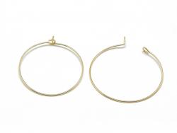 Acheter Paire de créoles en laiton 30 mm - doré à l'or fin 18K - 1,49€ en ligne sur La Petite Epicerie - Loisirs créatifs