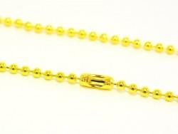 Collier chaine bille dorée - 60 cm