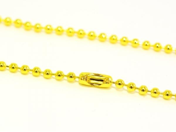 Acheter Collier chaine bille dorée - 60 cm - 1,79€ en ligne sur La Petite Epicerie - 100% Loisirs créatifs
