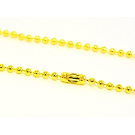Gold-coloured ball chain necklace - 60 cm