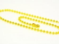 Goldfarbene Kugelhalskette - 60 cm