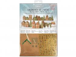 Acheter Calendrier de l'avent 2020 - Village kraft métallisé - 7,99€ en ligne sur La Petite Epicerie - Loisirs créatifs