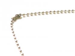 Collier chaine bille argent clair - 60 cm
