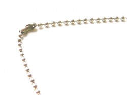 Light silver-coloured ball chain necklace - 60 cm