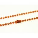 Collier chaine bille orange - 60 cm