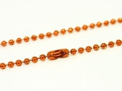 Collier chaine bille orange - 60 cm  - 1