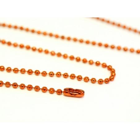 Orange ball chain necklace - 60 cm