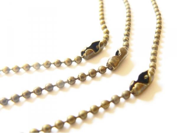 Bronze-coloured ball chain necklace - 60 cm