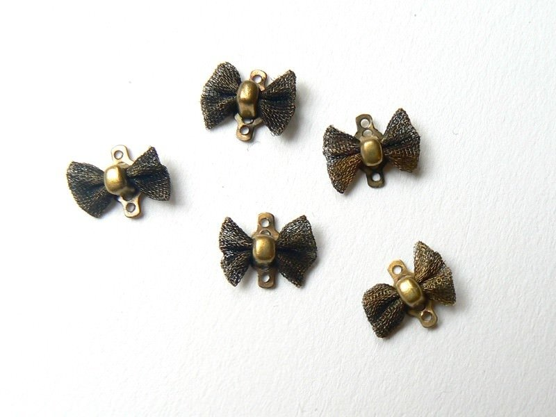 1 noeud connecteur - couleur bronze  - 1