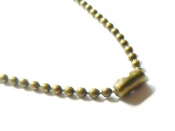 Collier chaine bille bronze - 60 cm