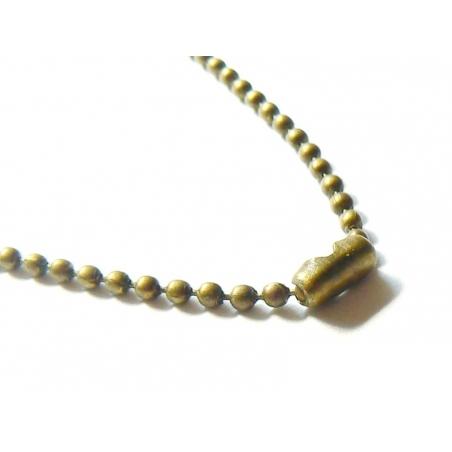 Collier chaine bille bronze - 60 cm
