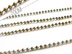 1m chaine bille bronze 2,4 mm