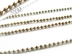 Bronze-coloured ball chain (1 m) - 2.4 mm