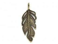 Acheter 1 Breloque grande plume bronze - 2,79€ en ligne sur La Petite Epicerie - 100% Loisirs créatifs
