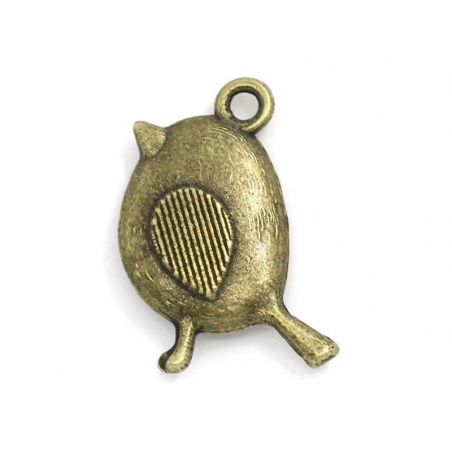 1 Breloque moineau bronze