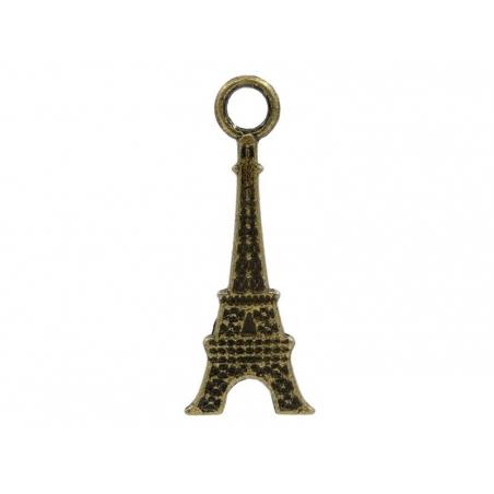 1 breloque tour eiffel 2D couleur bronze