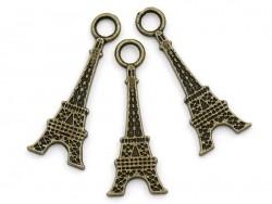 Acheter 1 breloque tour eiffel 2D couleur bronze - 0,99€ en ligne sur La Petite Epicerie - Loisirs créatifs