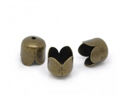 Tulip-shaped end cap - bronze-coloured