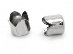 Tulip-shaped end cap - dark silver-coloured