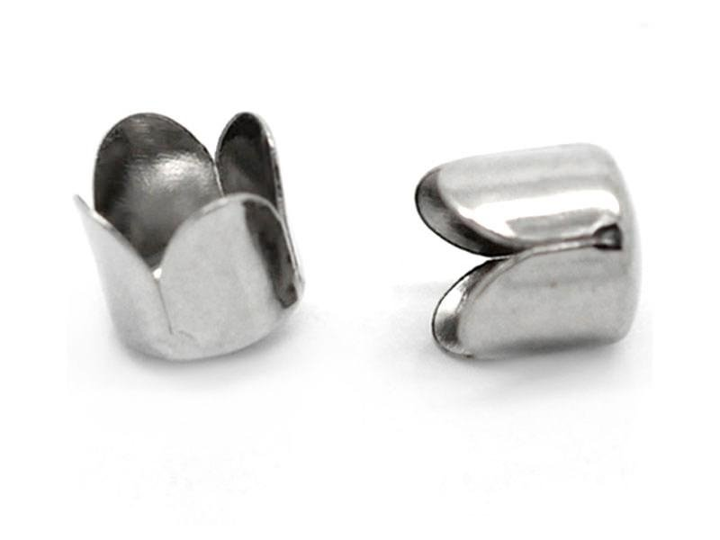 Tulip-shaped end cap - dark silver-coloured