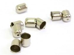Cylindrical end cap - dark silver-coloured