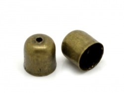 Cylindrical end caps - bronze-coloured