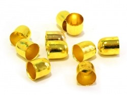 Cylindrical end caps - gold-coloured