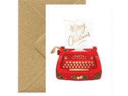 Acheter Carte aquarelle - Machine à écrire Noël - 3,49€ en ligne sur La Petite Epicerie - Loisirs créatifs