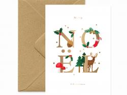Acheter Carte aquarelle - Noël - 3,49€ en ligne sur La Petite Epicerie - Loisirs créatifs