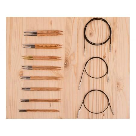 Acheter Set de 8 paires d'aiguilles circulaires interchangeables - 59,99€ en ligne sur La Petite Epicerie - Loisirs créatifs