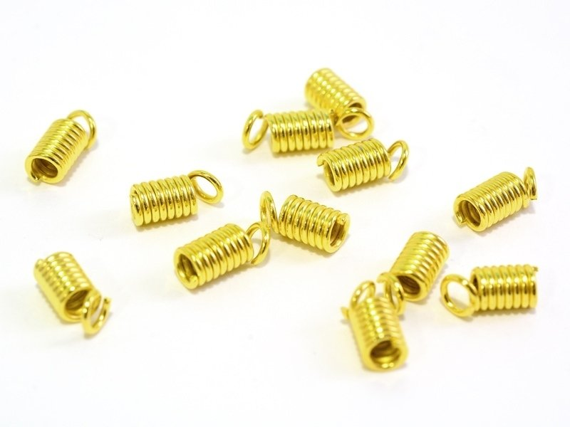 10 coil end caps - gold-coloured