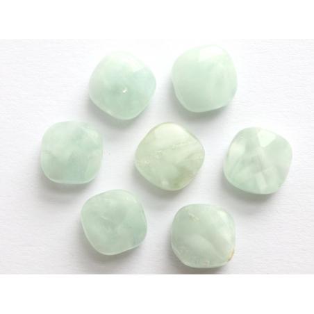 Acheter Perle naturelle à facettes carré - Angélite verte - 8 x 8 mm - 1,19€ en ligne sur La Petite Epicerie - Loisirs créatifs