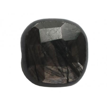 Acheter Perle naturelle à facettes carré - Jaspe noir - 8 x 8 mm - 1,29€ en ligne sur La Petite Epicerie - Loisirs créatifs