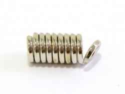 10 coil end caps - dark silver-coloured