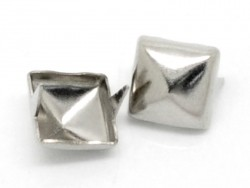 10 studs - dark silver-coloured