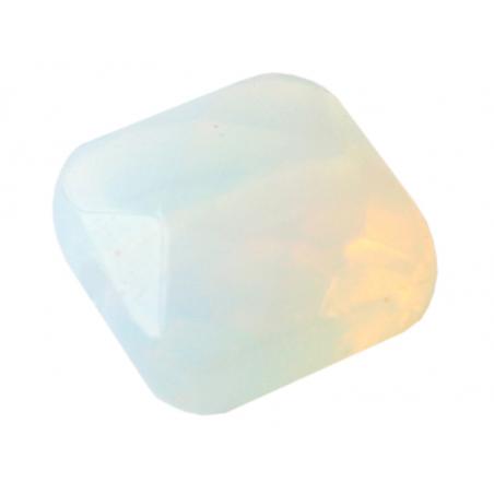 Acheter Perle naturelle à facettes carré - Opalite - 8 x 8 mm - 0,59€ en ligne sur La Petite Epicerie - Loisirs créatifs