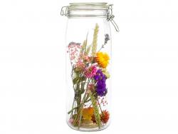 Fleurs séchées présentées...