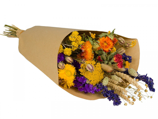 Acheter Bouquet de fleurs séchées - coloris orange - taille large - 25,99€ en ligne sur La Petite Epicerie - Loisirs créatifs
