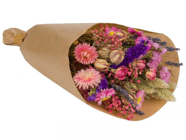 Acheter Bouquet de fleurs séchées - coloris rose - petite taille - 14,99€ en ligne sur La Petite Epicerie - Loisirs créatifs
