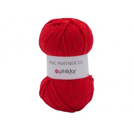 Acheter Laine à tricoter Partner 3.5 - Rouge - 3,40€ en ligne sur La Petite Epicerie - Loisirs créatifs