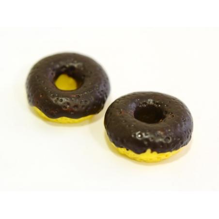Chocolate doughnut cabochon