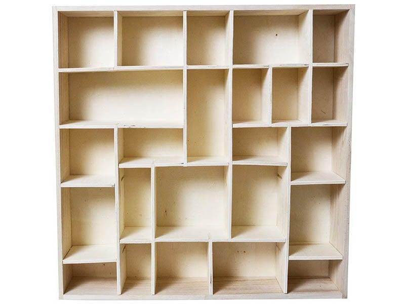 Acheter Étagère 24 compartiments à customiser - 45 x 9 x 45 cm - 29,89€ en ligne sur La Petite Epicerie - Loisirs créatifs