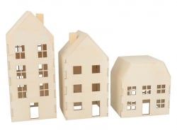 Acheter 3 maisons en bois à décorer - 9,89€ en ligne sur La Petite Epicerie - Loisirs créatifs